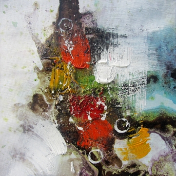 orange explosion/oleo sobre tela